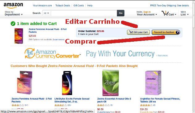 Comprar na Amazon Página Carrinho de Produtos