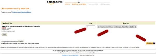 Comprar na Amazon últimos passos 4/4